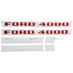 Emblem (sæt) Ford 4000